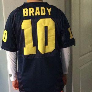 Nike Tom Brady Michigan Home Throwback Jersey